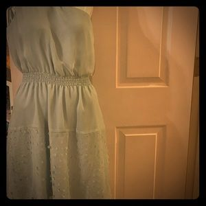 Light aqua colored one shoulder dress GB medium cu